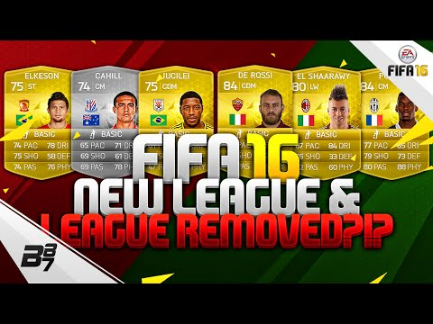 FIFA 16 | NEW LEAGUE ADDED AND LEAGUE REMOVED?!