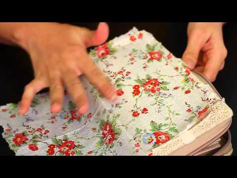 Let's DIY: Napkin decoupage on fabric purse