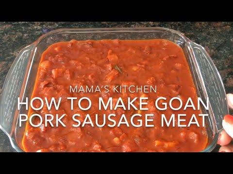 How To Make Goan Pork Sausage Meat
