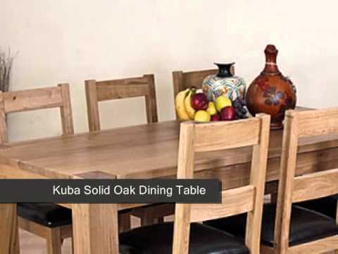 Kuba Solid Oak Dining Table & 6 Vancouver Chairs