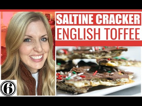 THE BEST Saltine Cracker English Toffee