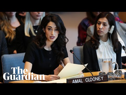 Xxx Mp4 Amal Clooney Urges UN To Adopt Sexual Violence Resolution 'This Is Your Nuremberg Moment' 3gp Sex