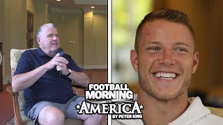 Christian McCaffrey on playing with Cam Newton, running philosophy (FULL INTERVIEW) | NBC Sports