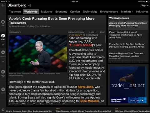 Bloomberg App for iPad Overview