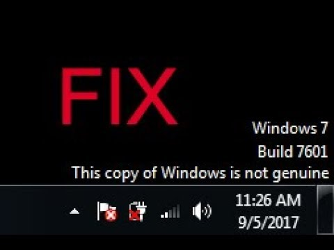 HOW TO FIX BUILD 7601 this copy of windows is not genuine