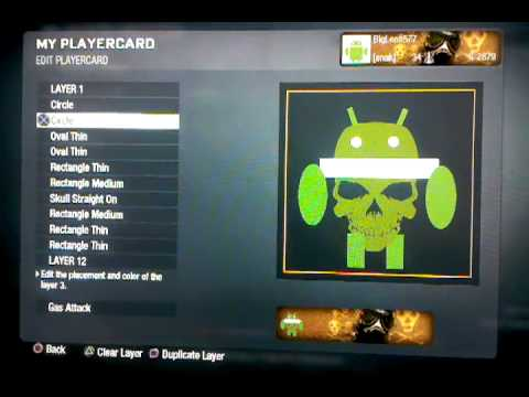 how to make android logo on call of duty black ops emblem creater