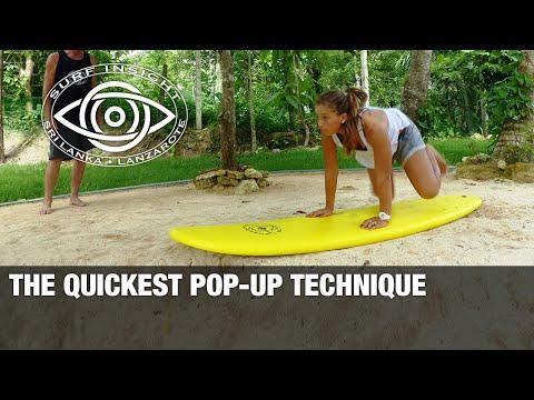 Surf Insight : The Quickest Pop Up Technique