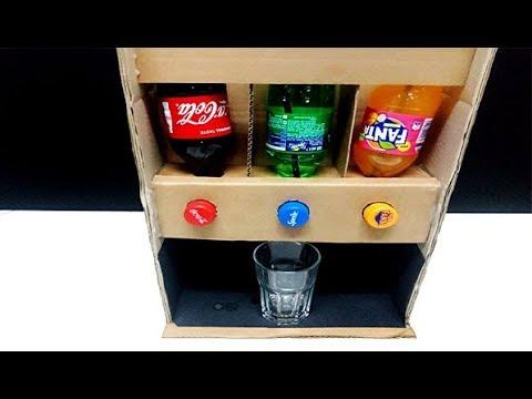 How To Make Dispenser Fountain Machine No Electricity Coca-Cola Fanta Sprite Soda Drink HOME MADE