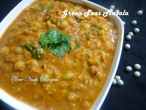 Green Peas Masala Curry - Side Dish for Chapathi and Puri