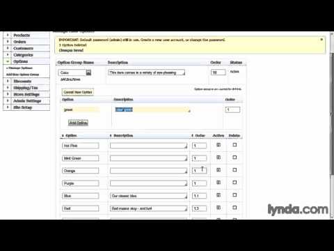 ecommerce php framework, Adding product options