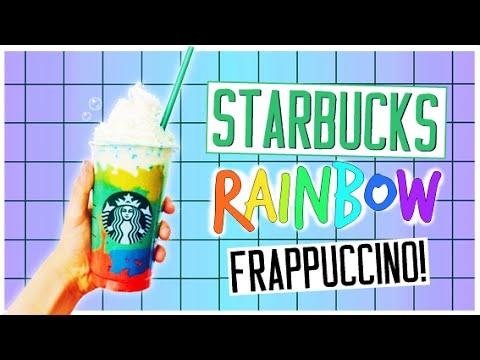 DIY Starbucks RAINBOW Vanilla Bean Frappuccino!
