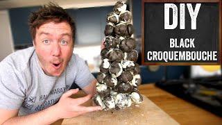 Black Croquembouche Recipe (Charcoal Profiterole Tower!)
