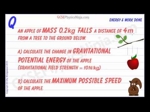 Kinetic Energy and Potential Energy - Calculating the Maximum Speed of a Falling Object