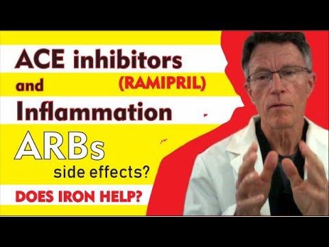 ACE Inhibitors (ramipril) and inflammation; Arbs; side effects, cough, angioedema. Does Iron help?