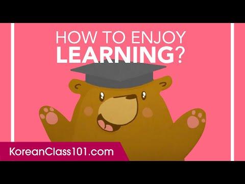 How to Enjoy Learning Korean