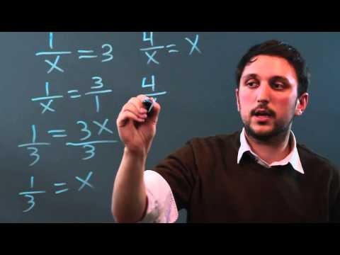 How to Solve Variables in the Denominator