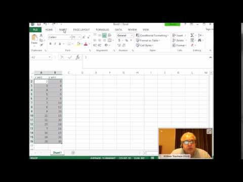 How to create a scatter plot using MS Excel 2013