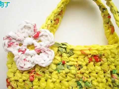 DIY/crochet bag with plastic bags