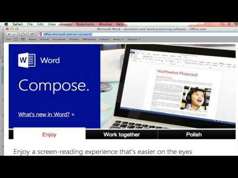 How to Download a Microsoft Word Program for Mac : Microsoft Word Basics