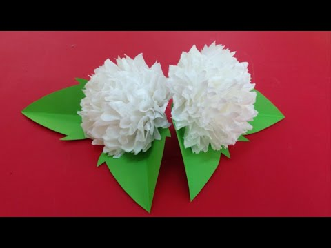 How to Make Tissue Paper Flowers - Making Tissue Paper Flowers - Paper Flower Tutorial