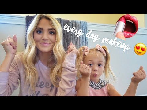 MY EVERY DAY MAKEUP ROUTINE! (WITH TINY CUTE ASSISTANT!)
