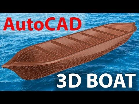 AutoCAD 3D BOAT | 3D MODELING OF HULL SHAPE | AutoCAD MESH MODELING