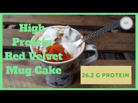 Healthy Recipe: High Protein Red Velvet Mug Cake | No Bake | Protein Cake | Nainja Kapoor