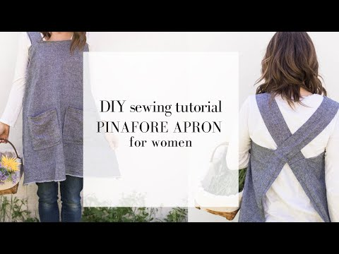 How to Sew a Pinafore Apron