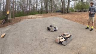 Homemade Battlebot Fight epic!!!