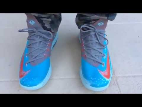 2014 Nike KD 6 VI Maryland Blue Crab shoes from china  on feet on cheapbestmall net