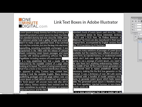 Link Text Boxes in Illustrator CS6