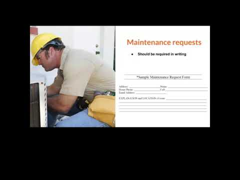 How to provide great customer service while still getting maintenance requests in writing