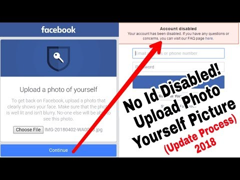 Solved Facebook Photo Yourself Picture Upload ID Disabled Problem | Update New Solution 2018
