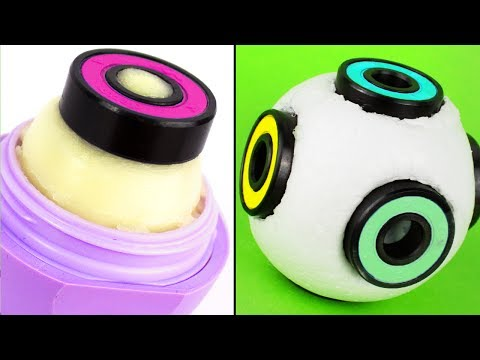 DIY FIDGET BALL SPINNER 🌀 Cube Spinner!