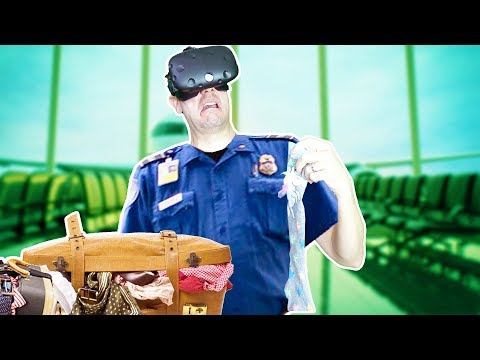 ONE ARMED TSA AGENT SAVES AIRPORT FROM DESTRUCTION IN VR! - TSA Frisky Full Game HTC VIVE Gameplay