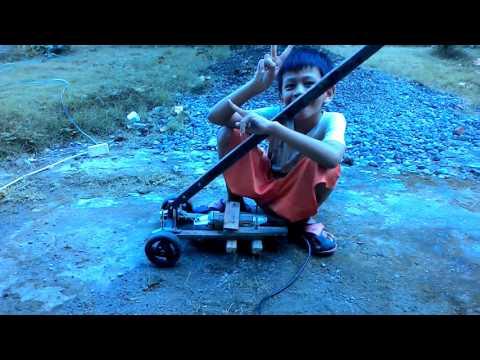 home made grass cutter use circular grinder