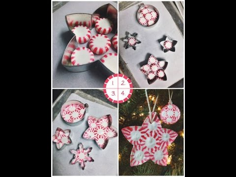 DIY Homemade Candy Mint Ornaments/Bowls