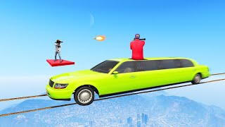 MILE HIGH TIGHTROPE LIMOUSINE vs. SNIPERS BATTLE! (GTA 5 Funny Moments)