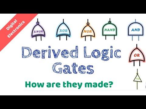 What are derived logic gates?   NAND gate   NOR gate   XOR gate   XNOR gate   DE.11