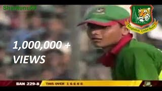 Mashrafe Mortaza hit 25 Runs in 5 Consecutive  Balls [ 6 6 6 6 1 ]