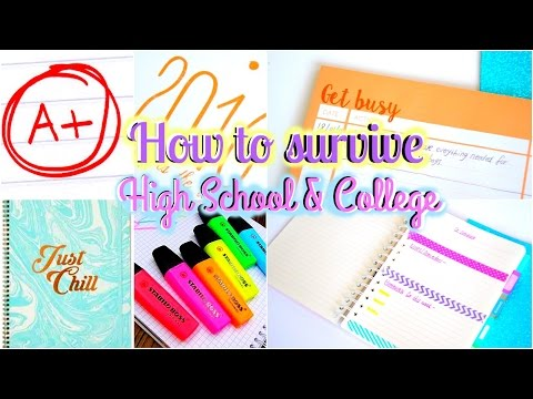 Tips & Organization Hacks On How To Survive High School! | Back to School 2016