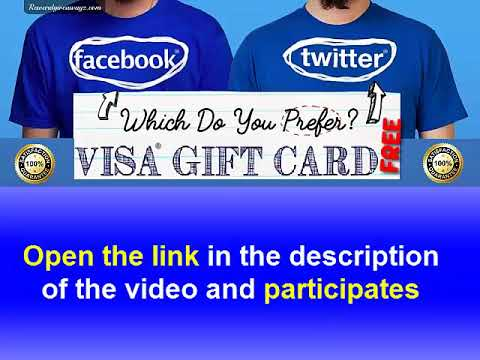 Get a Visa Card Which Do You Prefer Facebook vs Twitter
