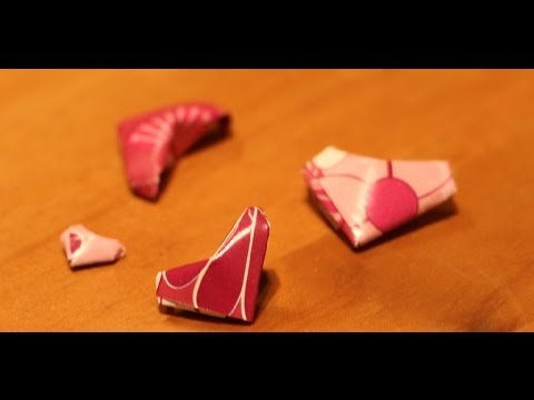 How to make a 3D paper heart - easy origami Valentine's Day