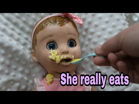 Luvabella Eats Breakfast! Robotic Talking Baby Doll - Hottest Doll On The Market