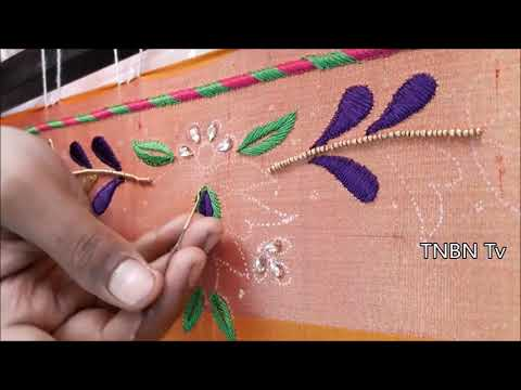 new blouse back neck models  | simple maggam work blouse designs | hand embroidery designs