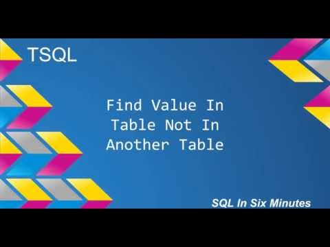 TSQL: Find Values In One Table Not In Another Table