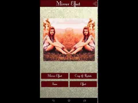 how to use mirror effect application