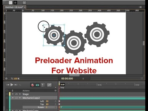 How to create animated preloader loop in Edge Animate