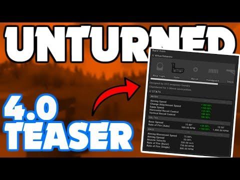*NEW* Unturned 4.0 Attachment TEASER! (Forum Post)