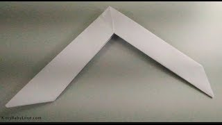 How To Make A Paper Boomerang Easy